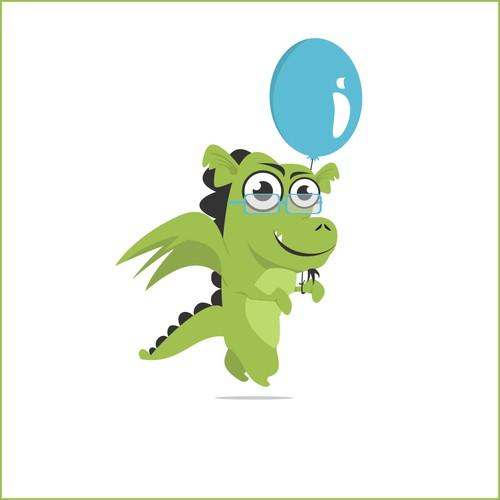 Nerdy Dragon Mascot for TeamGantt