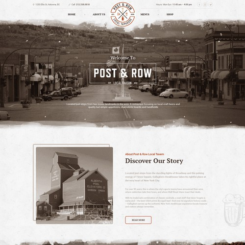Design a website for the Post & Row Local Taphouse!