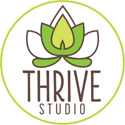 logo and business card for Thrive studio