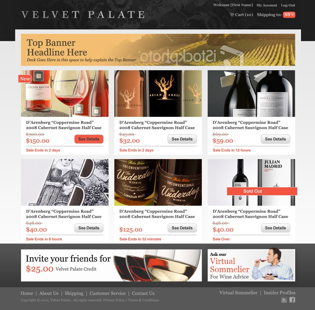 Help Velvet Palate with a banner ad