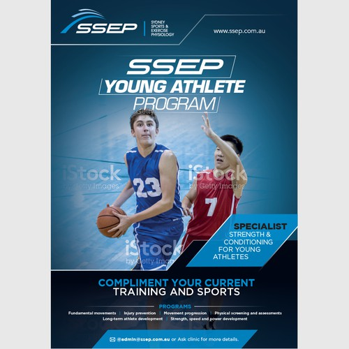 Poster to attract young athletes to gym
