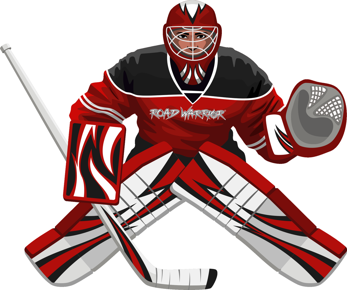 Hockey Goalie Graphic Outlines