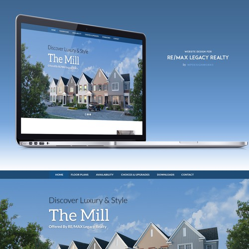Web design for real estate firm