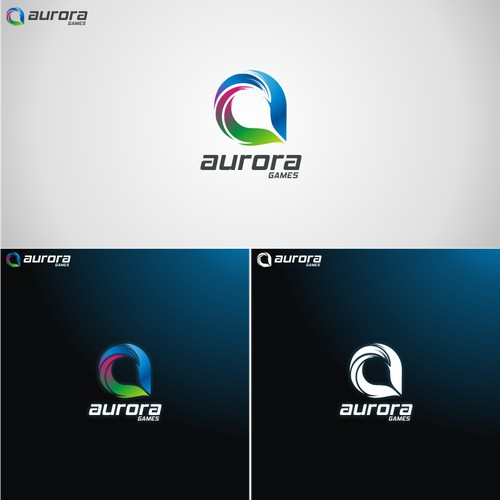 Aurora Games Logo - Hot Gaming Website Startup