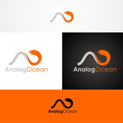 Initial Abstract Logo Design For Analog Ocean