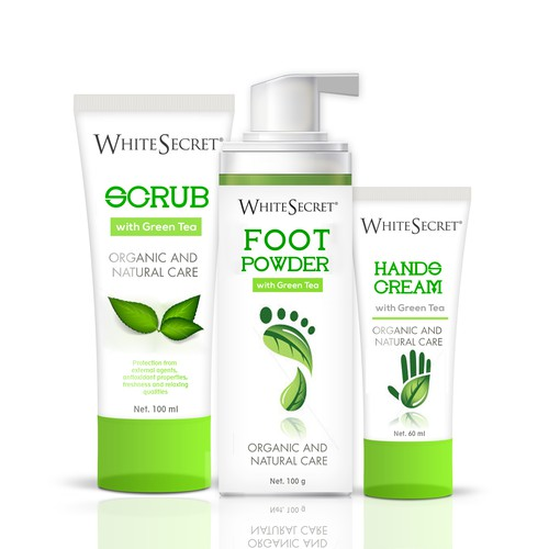 Foot and hand organic cosmetic line