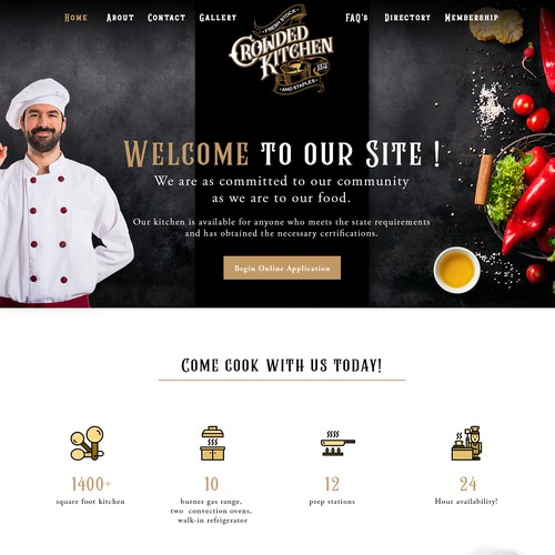 Website concept for a  Community Cookhouse