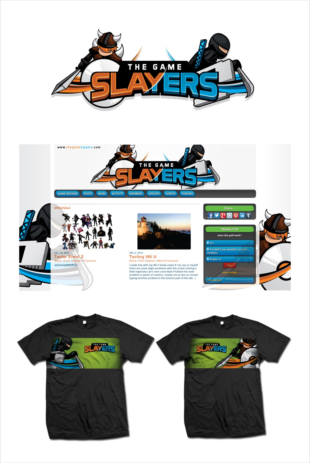 Help The Game Slayers find a logo!