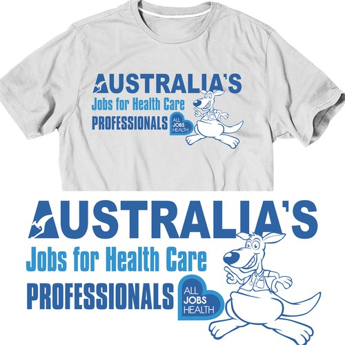 t-shirt design for All Jobs Health