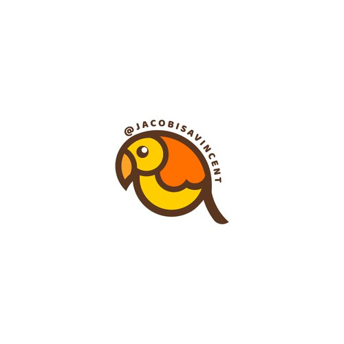 Fun cartoony sticker design/logo for an innovative glass blower