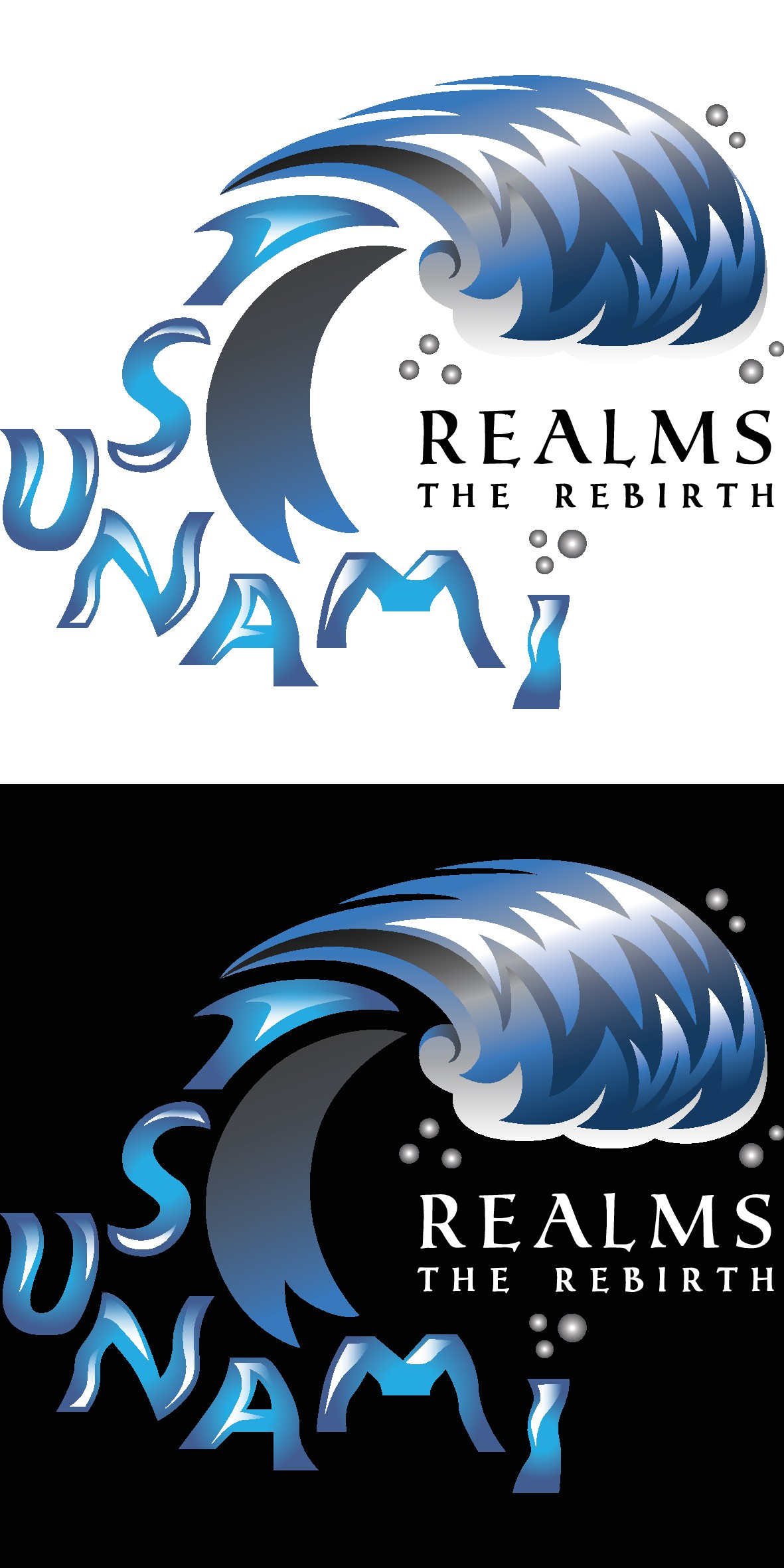 Create the Logo for a new RPG game called Tsunami Realms