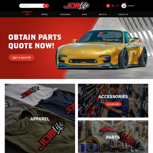 JDMLife needs a website design --- Car Parts, Apparel, Accessories