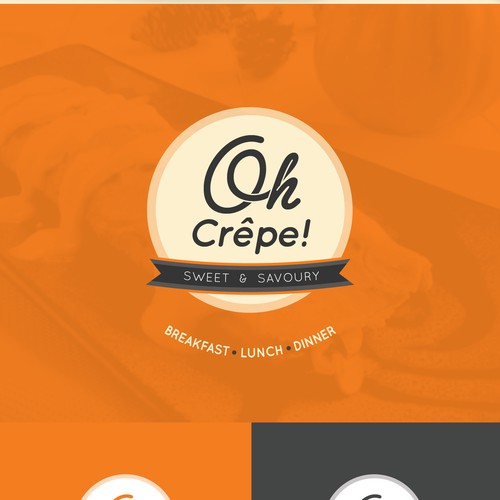 Logo for a crepe fast food chain