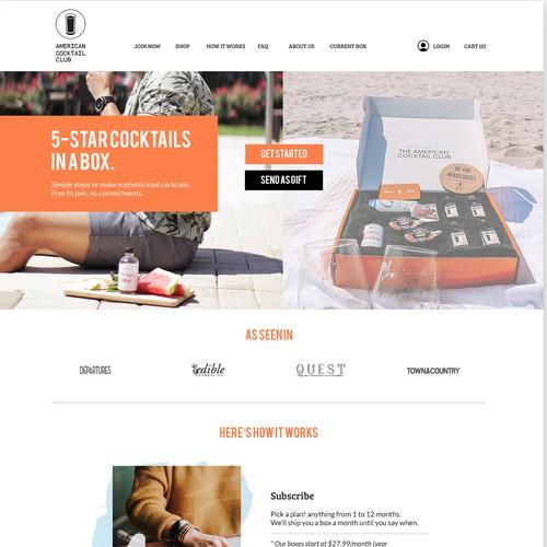 Website Design for Cocktail Subscription