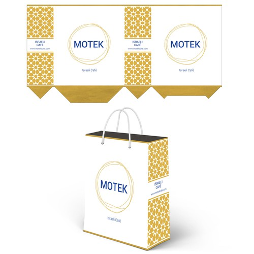 Take-out bag for Motek Cafe