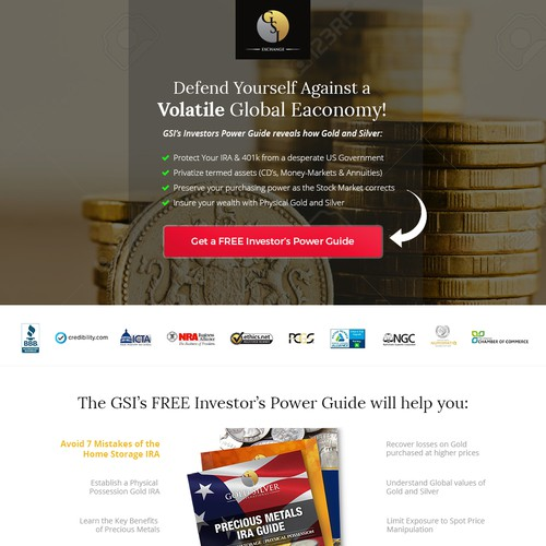 Landing Page Design for - GSI Exchange