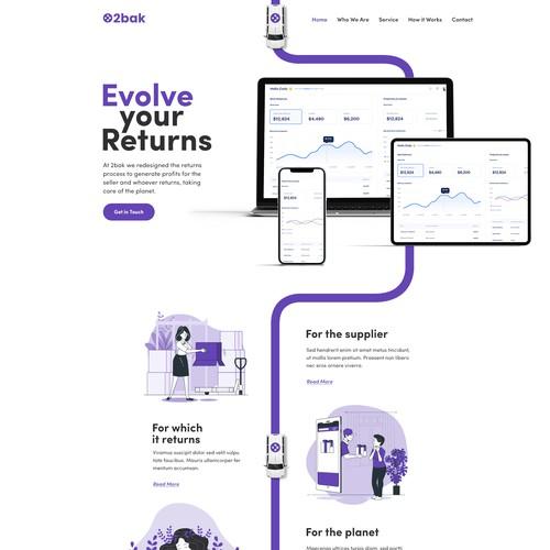 2Bak Web page design