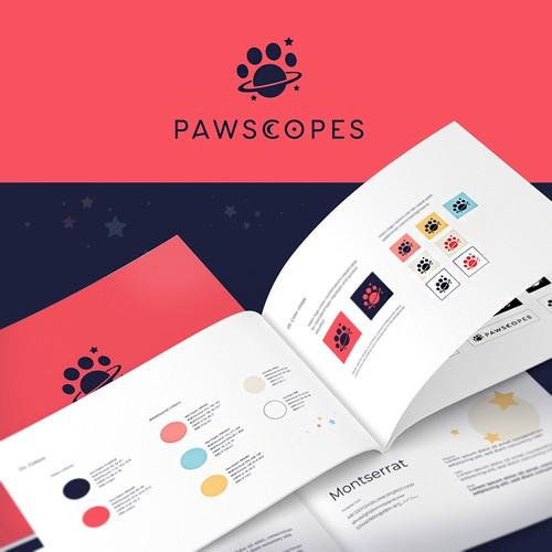 Logo & brand guide for Pawscopes