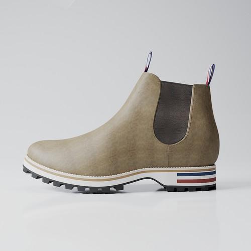 Réalisation de visuels 3D pour chaussures de luxe