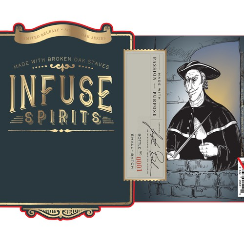 Illustrative whiskey label design - Cask of Amontillado