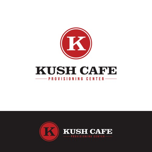 classic logo for kush cafe, provisioning center