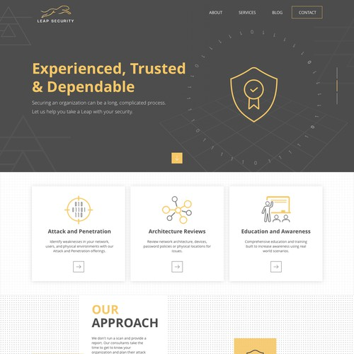 Leap Security Website design
