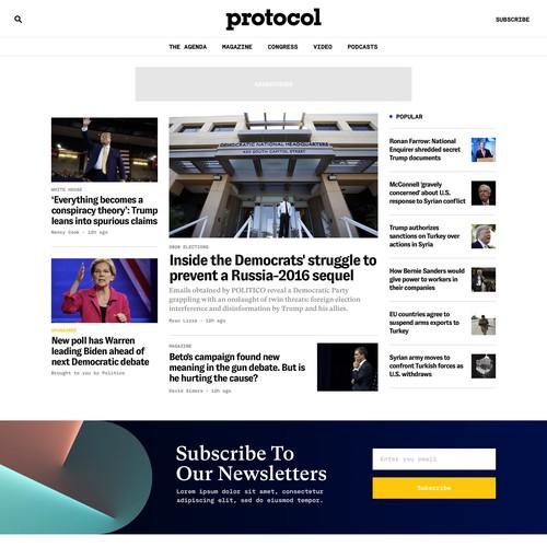 Protocol Homepage - V1