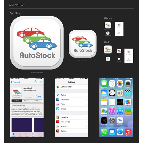 Create an iPhone app icon for Car Inventory Stock take app
