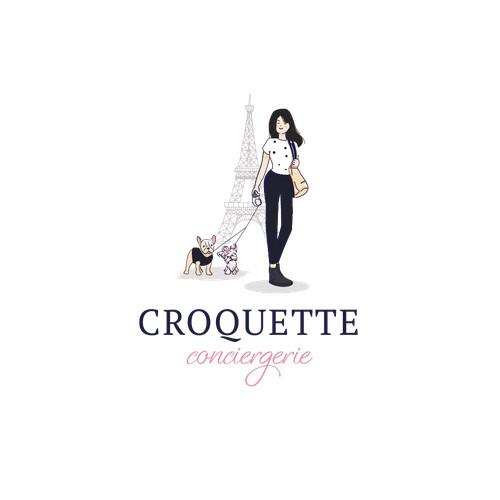 Proposition de logo attractif pour une conciergerie de chien luxe à Paris