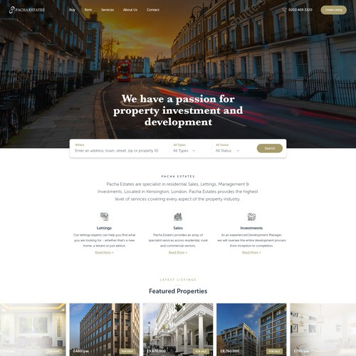 Real Estate - homepage