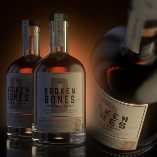 Whisky label design
