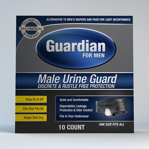 New Package Design for Guardian Male Product