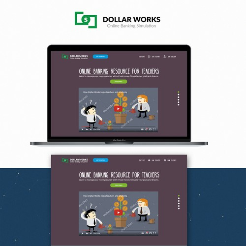 Concept for children's financial investment page
