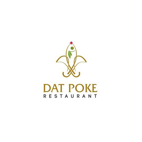 Blod logo concept for Poke restaurant.