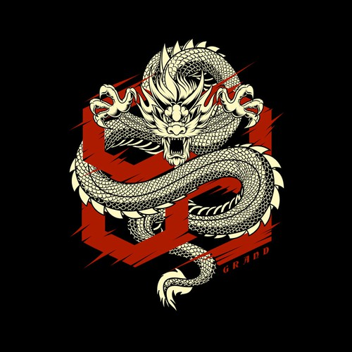 Dragon for Street wear t-shirt