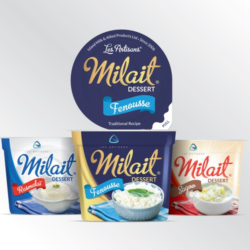 Dairy product packaging design