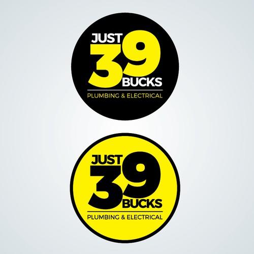 Just 39 Bucks logo design