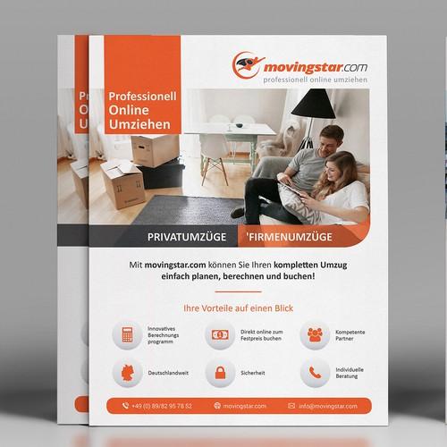 Clean Flyer design for Movingstar.com