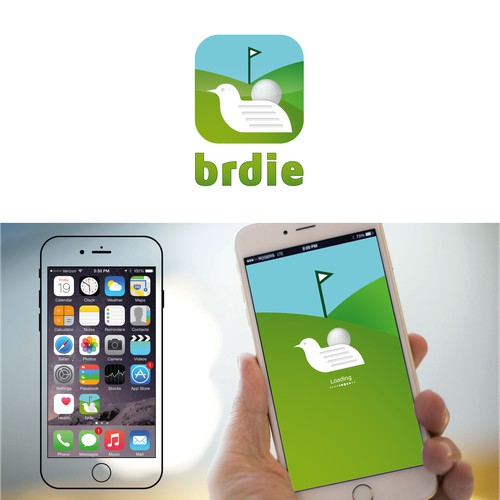 Create a very appealing and attractive golf logo for Brdie: A Golf news mobile app