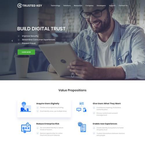 B2B website for Blockchain startup