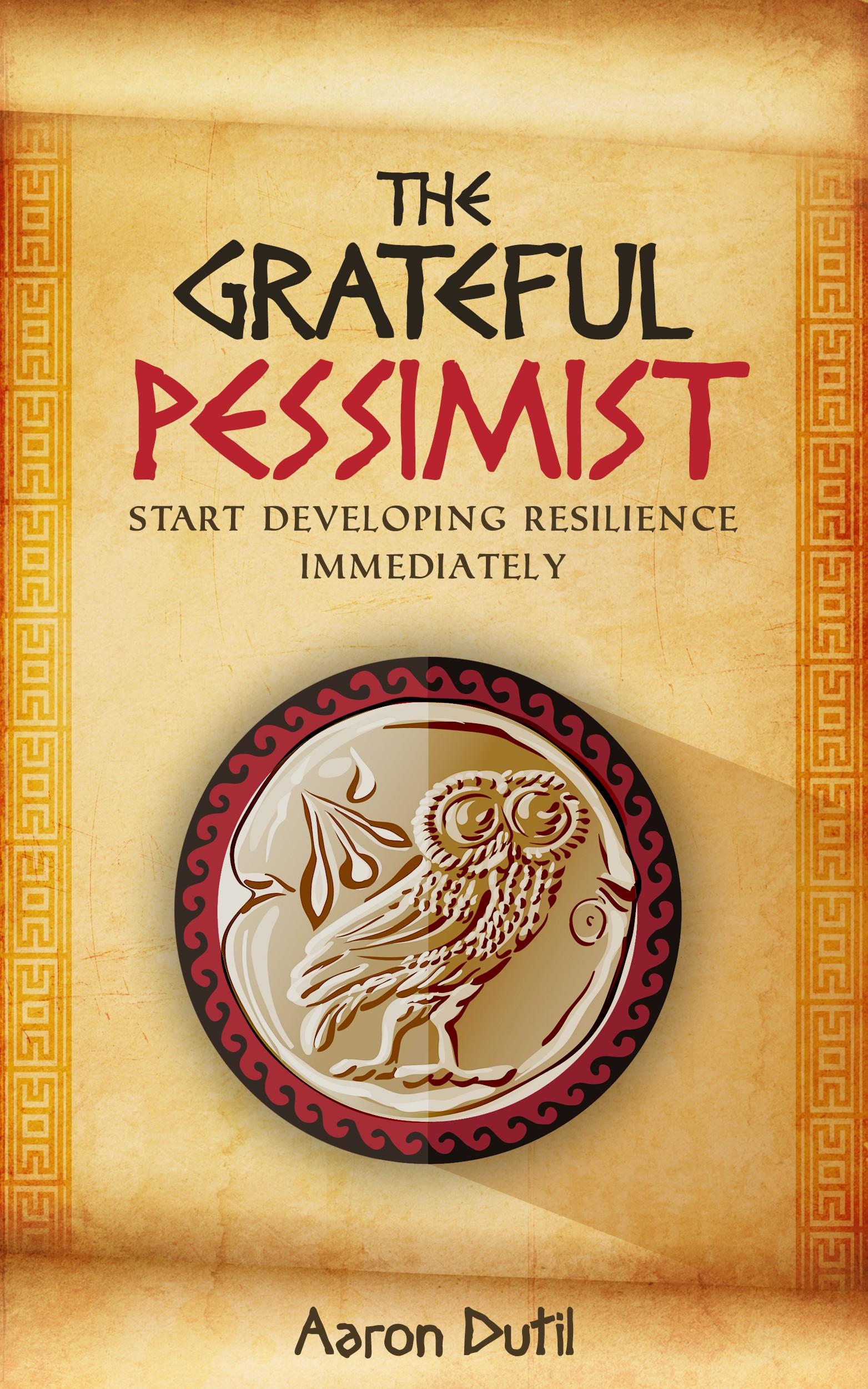 Book cover design for self-help book using ancient Greco-Roman design.