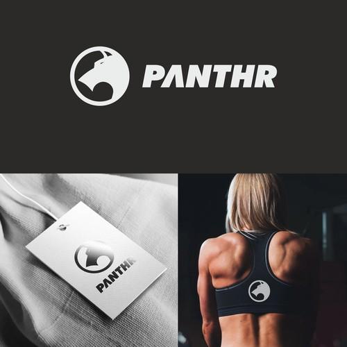 Logo design concept for a sportwear brand called Panthr