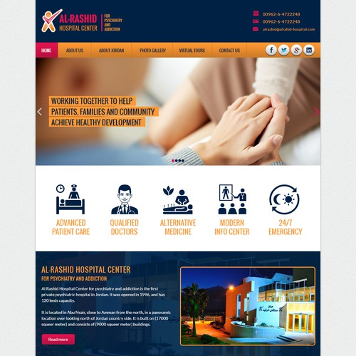 Psychiatric Hospital Website - Modern Design
