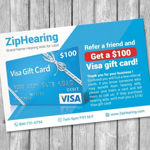 Ziphearing Postcard Design