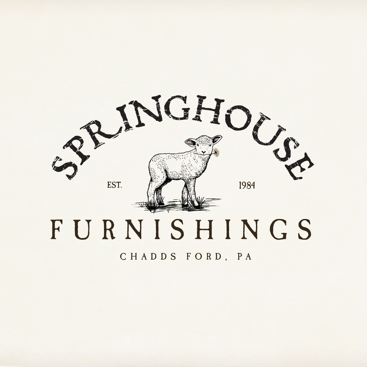 Unique! 1 logo for Springhouse, representing a Farm shop and Furnishing shop. Need clean rustic modern look. Use of gree