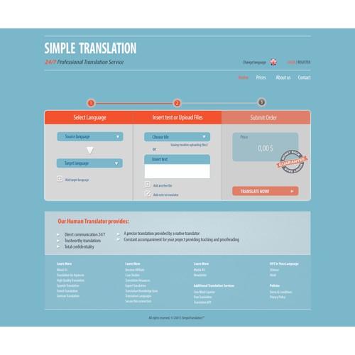 Create the next website design for simpletranslation.com