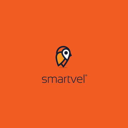 smartvel - Logo for tech travel startup. Smart travel?