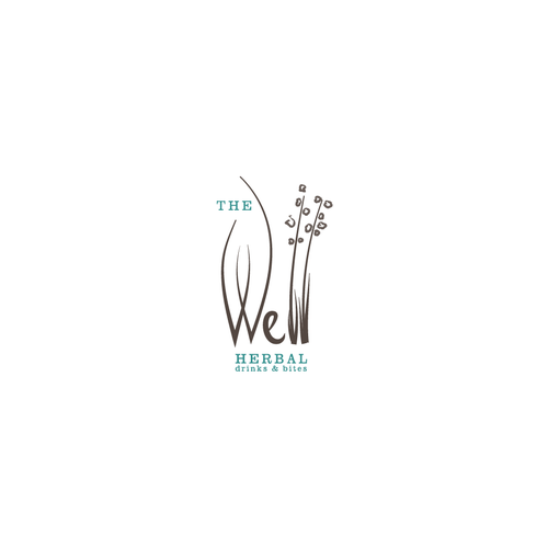 Logo concept for herbal drinks and bites
