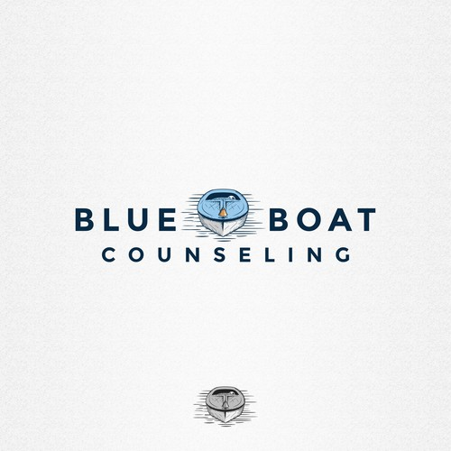 Craft logo for Blue Boat Counseling