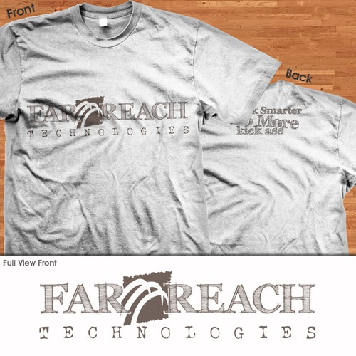 t-shirt design for Far Reach Technologies